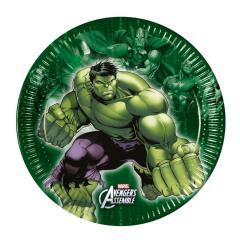 Papirnati krožniki Hulk 19,5 cm