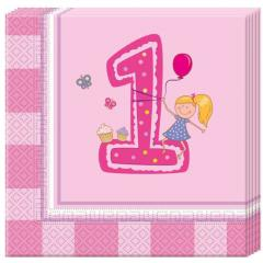 Servieti za prvi rojstni dan - PUNČKA