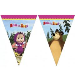 Maša in Medved zastavice za zabavo