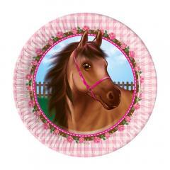 Papirnati krožniki Konji 1 - 19,5 cm