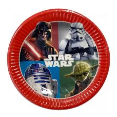 Papirnati krožniki Star Wars, Vojna zvezd 19,5 cm