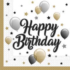 Servieti Happy Birthday št.2