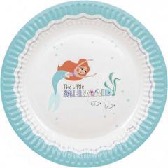 Papirnati krožniki Ariela mala morska deklica 23 cm