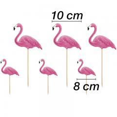 Topper za torte Flamingo, 6 kom
