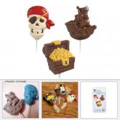 Modelček za čokoladne lizike pirati - gusarji