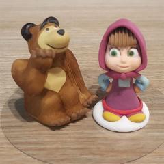 Sladkorne figurice Maša in Medved, 2 kom