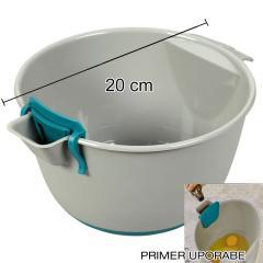 Posoda z vgrajenim merilnim predalom 20 cm, plastika