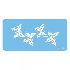 Šablona za dekoracijo 4 metuljčki