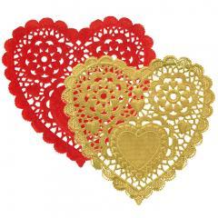 Prtički zlati in rdeči srčki