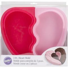 Wilton silikonski pekač dvojno srce