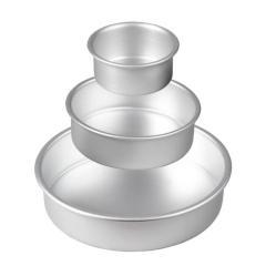 Wilton komplet manjših okroglih pekačev 10/15/20 cm, višina 5 cm