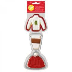 Wilton modelčki pulover, skodelica mleka in kapa