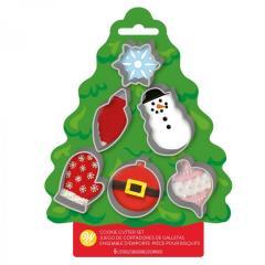 Wilton mini modelčki snežinka, žarnica, snežak, rokavica in dve bunkice