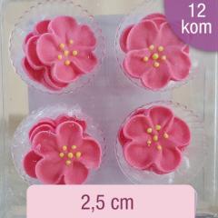 Sladkorne roza divje vrtnice, 12 kom