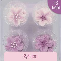 Sladkorne vijolične rožice, 12 kom