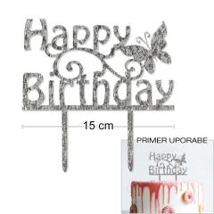 Topper za torto Happy Birthday št.1