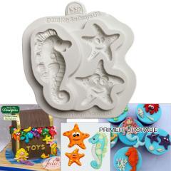 Katy Sue silikonski Modelček morski konjiček in morske zvezde