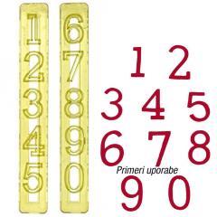 FMM številke za torte, 3 cm