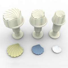 Modelčki MINI školjke, 3 delni