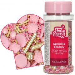 Posip glamurozni roza mix 65g, FunCakes