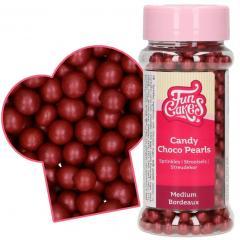 Čokoladne bordo perlice, 6 mm