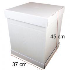 Visoka kartonska embalaža za torto 37x37x45 cm