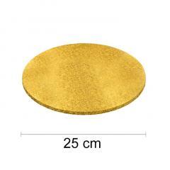 Podstavek 25cm, debelina 10mm – Zlat