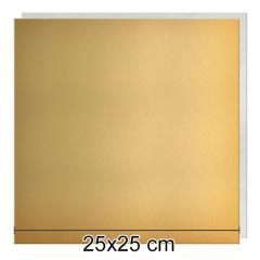 Zlat-srebrn mehkejši podstavek za torto 25x25 cm