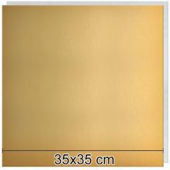Zlat-srebrn mehkejši podstavek za torto 35x35 cm
