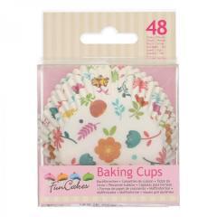 Papirčki za muffine ROŽICE, 48 kom, FunCakes