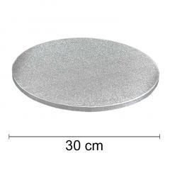 Podstavek 30cm, debelina 10mm – Srebrn