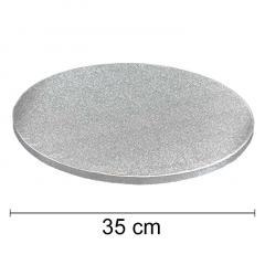 Podstavek 35cm, debelina 10mm – Srebrn