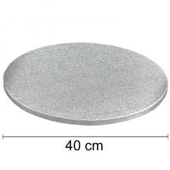 Podstavek 40cm, debelina 10mm – Srebrn