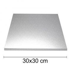 Podstavek 30x30cm, debelina 10mm – Srebrn
