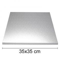 Podstavek 35x35cm, debelina 10mm – Srebrn