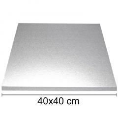 Podstavek 40x40cm, debelina 10mm – Srebrn