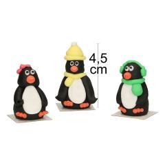 3D sladkorne figurice Pingvini