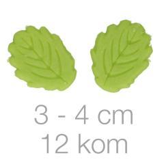 Zeleni listki iz marcipana, 12 kom