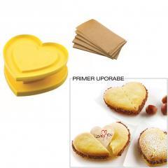 Silikomart modelček za piškotek sreče SRCE