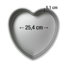 PME pekač srce 25,4 cm, višina 5,1 cm