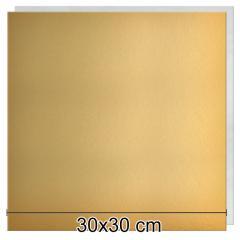 Zlat-srebrn mehkejši podstavek za torto 30x30 cm