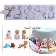 Silikonski Modelček Dojenčki