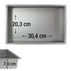 PME pravokotni pekač za biskvit 30,4 x 20,3 cm, višina 7,6 cm