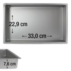 PME pravokotni pekač za biskvit 33,0 x 22,9 cm, višina 7,6 cm