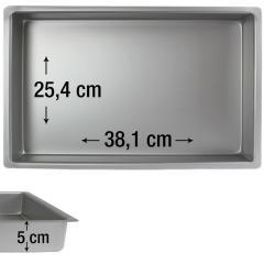 PME pravokotni pekač za biskvit 38,1 x 25,4 cm, višina 5 cm