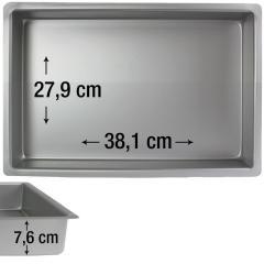 PME pravokotni pekač za biskvit 38,1 x 27,9 cm, višina 7,6 cm