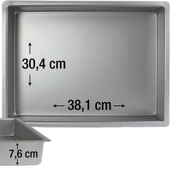 PME pravokotni pekač za biskvit 38,1 x 30,4 cm, višina 7,6 cm