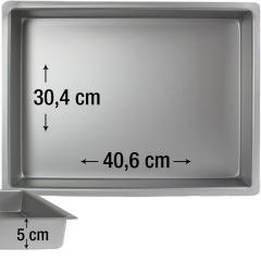 PME pravokotni pekač za biskvit 40,6 x 30,4 cm, višina 5 cm