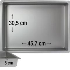PME pravokotni pekač za biskvit 45,7 x 30,5 cm, višina 5 cm