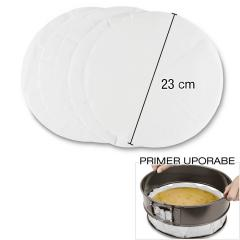 Peki papir okrogle oblike 20kos, 23cm